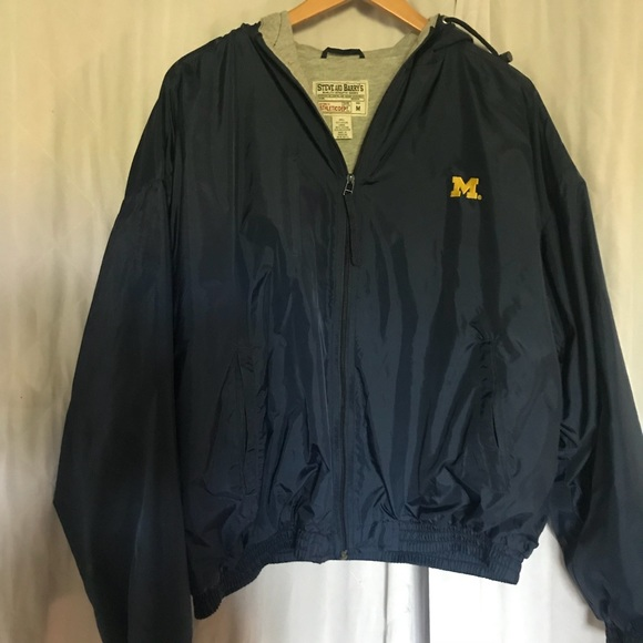 Steve and Barry's Jackets & Blazers - University of Michigan Wind Breaker with hoodie